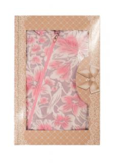 -розовый/принт цветы