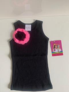 черный с ярко-розовым-черным цветком