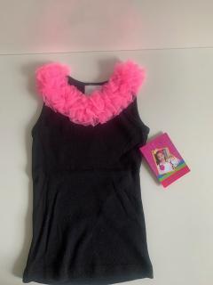 черный с ярко-розовой рюшей