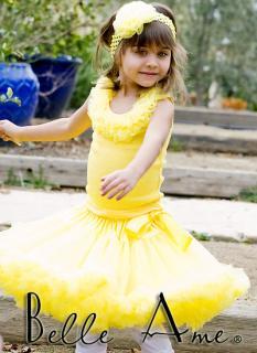 желтый с желтой рюшей