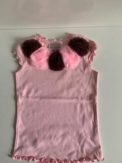 розовый с 5-ю розово-коричневыми  розетками