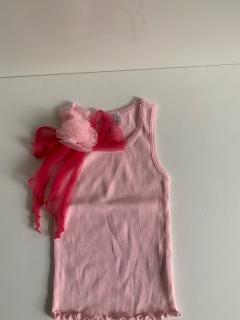 розовый с малиновым бантом/розовым цветком