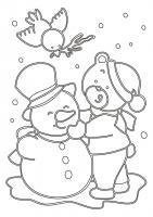 284 Снеговик с мишкой