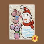 Снеговик с мышками happy new year 2020