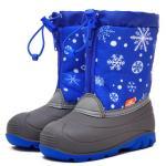 -снежинки на синем