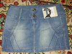 Светлая джинса с потертостями