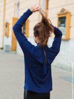 -синий