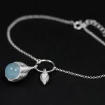 -голубой аквамарин+серебро