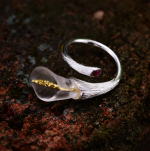 -серебро+кристалл+гранат