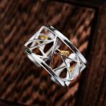 -серебро+позолоченные элементы