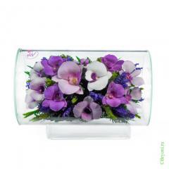 орхидеи, стекло