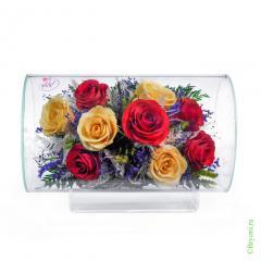 розы, стекло