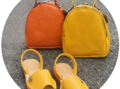 -Цвет рюкзака оранжевый,желтый.