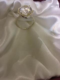 серебрение, вставка фианит