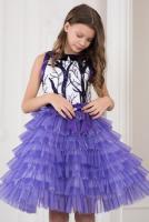 -фиолетовый с белым, спинка белая