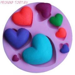 -Молд силиконовый для торта Сердечки