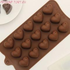 -Форма для шоколада и карамели СЕРДЦА