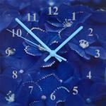 Часы Гортензия Размер: 30х30 см Количество кристаллов: 164