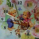 Часы Потехе час Размер: 30*30 см. Количество кристаллов: 182
