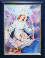 Ангел-Защитник Размер: 25*35 см. Количество кристаллов: 244