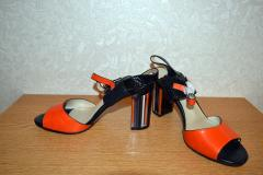 -босоножки оранжевые натур. кожа