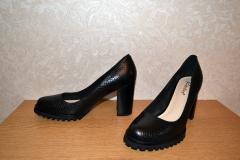 - туфли черные под рептилию натур.кожа