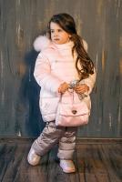 куртка:светло-розовый полукомбинезон:капучино