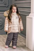 куртка:кремовый полукомбинезон:инжир