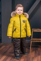 куртка:горчичный полукомбинезон:темно-коричневый