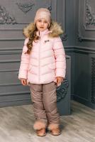 куртка:нежно-розовый полукомбинезон:какао
