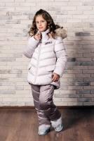куртка:светло-лиловый полукомбинезон:инжир
